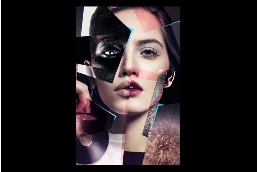 Постер Девушка абстракция