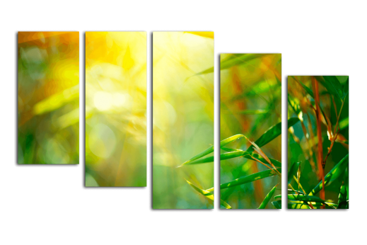 Модульная картина В бамбуковом лесу